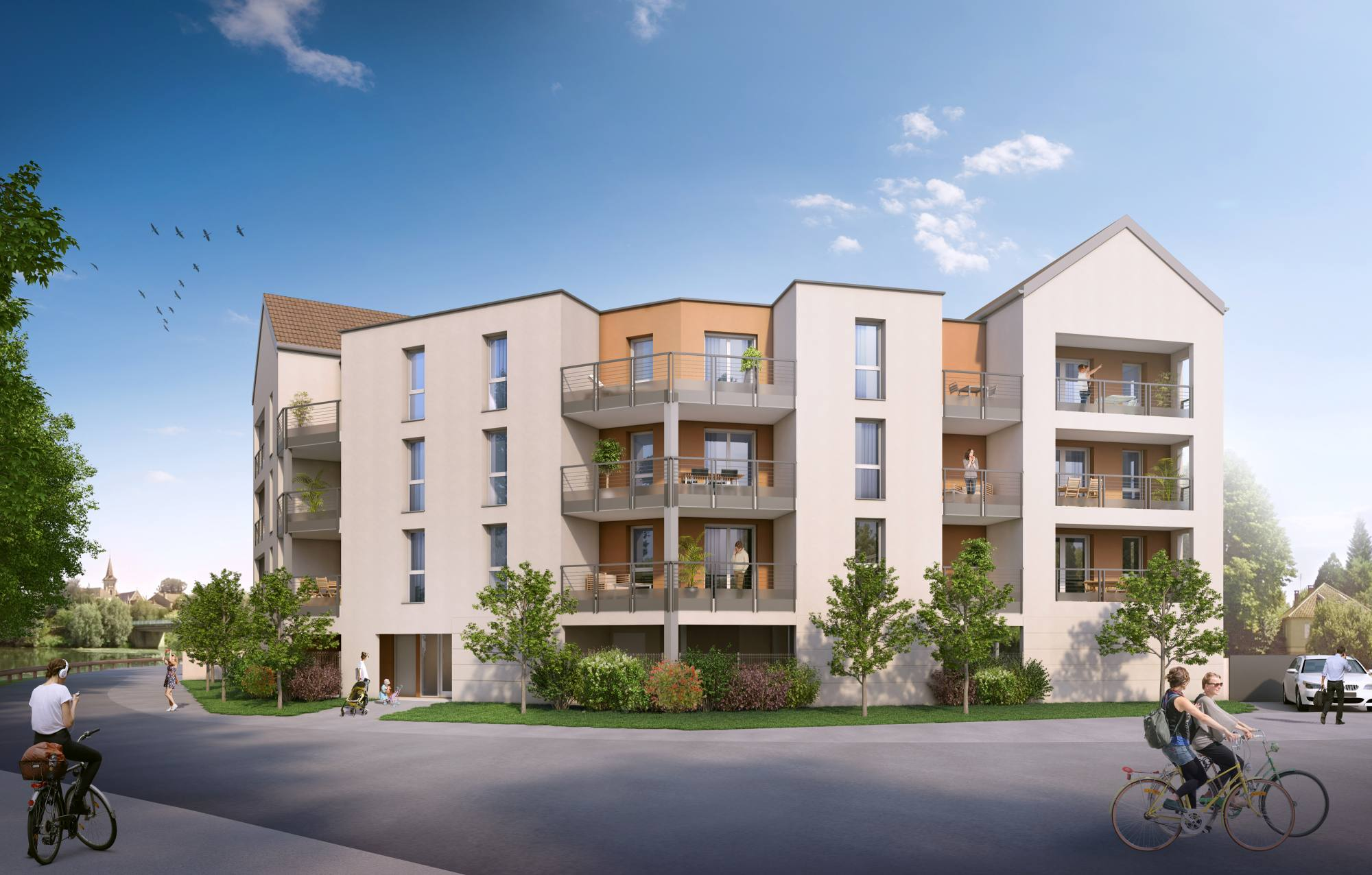«Les Rives de Seille» Construction de 12 logements neufs